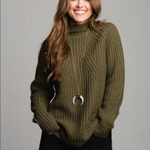 NWOT Olive Green Vestique Sweater